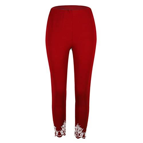 Fitness Deportivas Pantalones Niña Mujer, Estampados de moda de las mujeres Leggings deportivos Ladies Non veas a través de los pantalones de longitud del tobillo Pantalones de yoga flaca Entrenamient