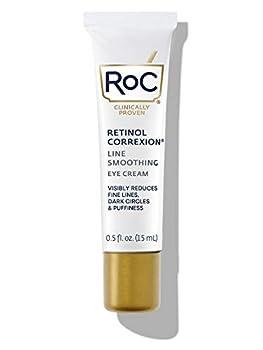 RoC Retinol Correxion Line Smoothing Under Eye Cream for Dark Circles & Puffiness 0.5 oz  Packaging May Vary  Eye Bag Treatment Anti Aging Cream