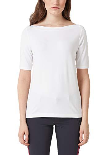 s.Oliver Damen 04.899.32.5097 T-Shirt, Weiß (White 0100), (Herstellergröße: 40)