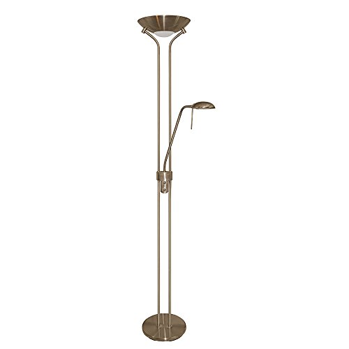 Mother And Child Floor Lamp Antique Brass 1x300 And 1x50