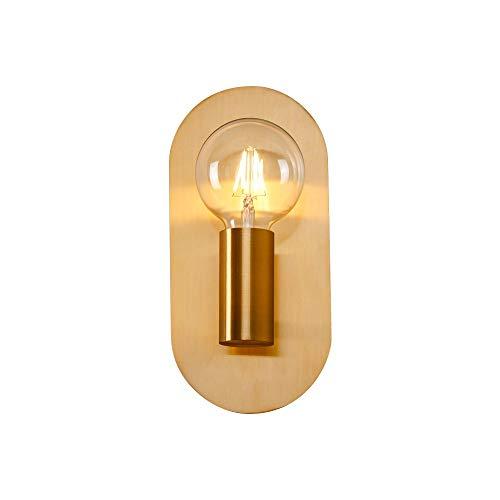 AGTRRYHZ Einfache Kreative Gold Wandleuchten Schlafzimmer Wohnzimmer Nachttischlampe Badezimmerspiegel Wandleuchten
