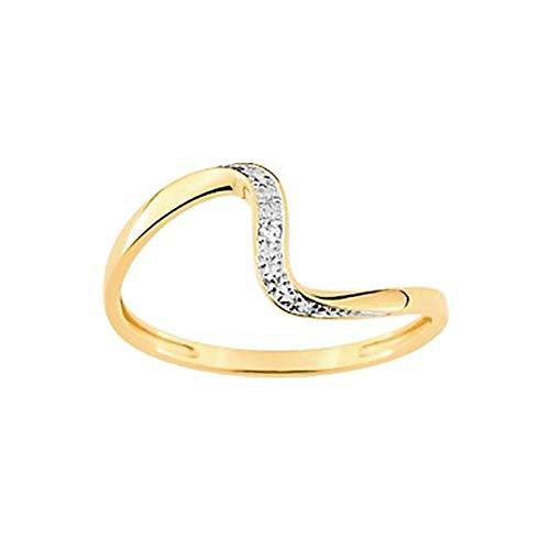 LuckyOneBijoux.com Anillo Dubai – Diamantes de oro amarillo