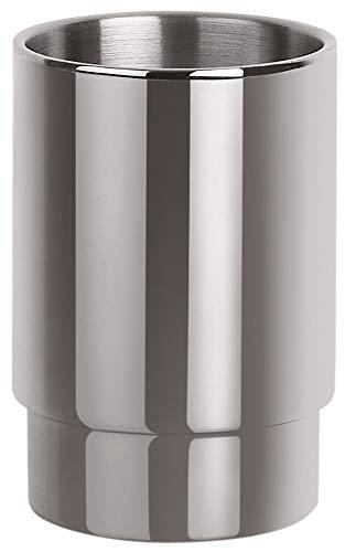 Spirella Zahnputzbecher Zahnbürstenhalter Nyo 9,5x6,5 cm Edelstahl - Silber