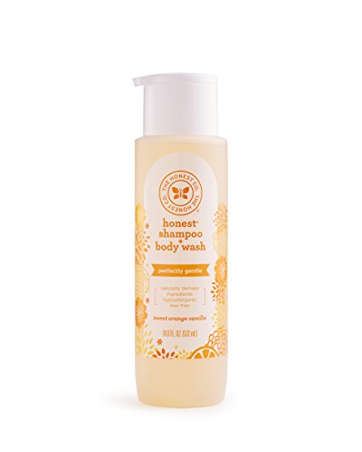 The Honest Company Perfectly Gentle Sweet Orange Vanilla Shampoo + Body Wash | Tear-Free Baby Shampoo with Naturally Derived Ingredients | Sulfate- & Paraben-Free Baby Bath | 18 Fl Oz (Pack of 1)