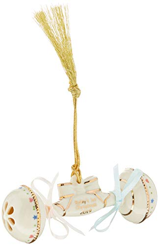 Lenox 884546 2019 Baby's 1st Christmas Rattle Ornament