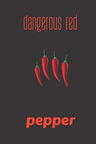 Best Deals! dangerous red pepper: small lined Pepper Notebook / Travel Journal to write in (6'' x 9'...