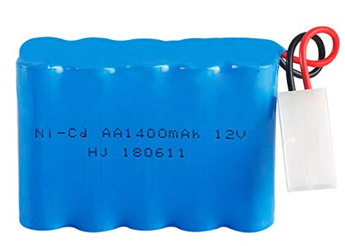 MeGgyc Batería AA de 12 v 1400 mah para RC Modelo de Barco Juguetes de Coche Juguetes de Control Remoto batería 12 v AA 1400 mah batería Recargable JST-2P