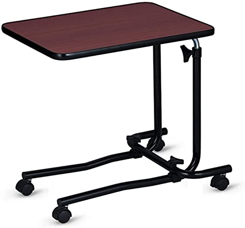 QIANMEI Mesa Auxiliar mesas Mesa de portátil para sofá/Cama | Escritorio móvil portátil con Ruedas de Ruedas | para Trabajos, Lectura, Escritura, Dibujo, Juegos, Altura Ajustable