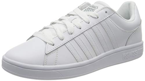 K-Swiss Herren Court Winston Sneaker, White, 43 EU
