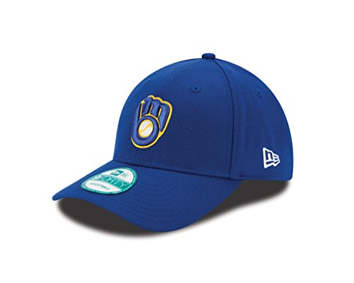 MLB Milwaukee Brewers Alt The League 9FORTY Adjustable Cap, One Size, Royal