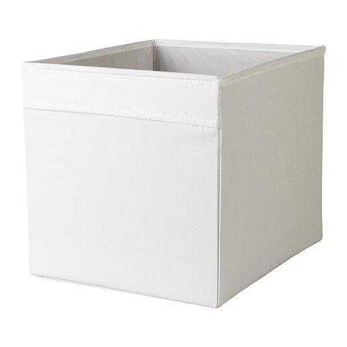 Dröna 33 x 38 x 33 cm, weiße Aufbewahrungsbox für Zuhause und Büro, perfekt für alles, von Zeitungen bis hin zu Kleidung.