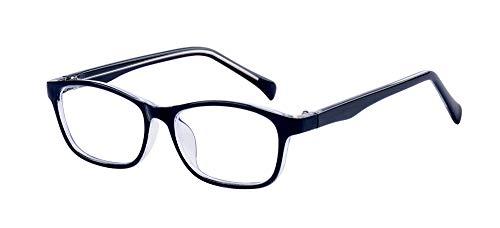 ALWAYSUV Classic Clear Lens Occhiali Telaio Eyewear Per Bambini/Adolescenti nero. M