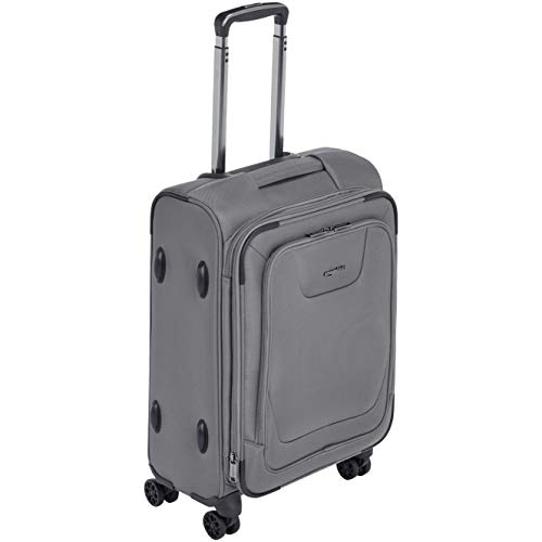 AmazonBasics Expandable Softside Carry-On Spinner Luggage Suitcase With TSA Lock And Wheels - 23 Inch, Grey