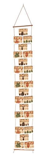 ROTH 80330 Adventskalender Hygge Style, 24 Boxen, Kordel, Holzstab und Zahlenetiketten 1-24, bunt