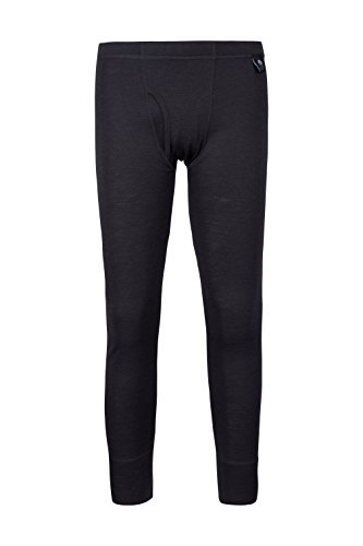 Mountain Warehouse Merino Thermohose als Baselayer für Herren - Leichte Hose, antibakteriell, atmungsaktive Hose - Für Camping bei kaltem Wetter Winter Baselayer Dunkelgrau M