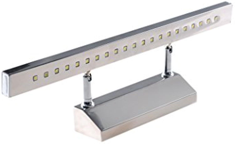 CAIJUN Spiegelleuchte LED rostfreier Stahl Anti-Rost Spiegelfrontleuchte modern Einfach Badezimmer Spiegelfrontleuchte Bad Wandleuchte