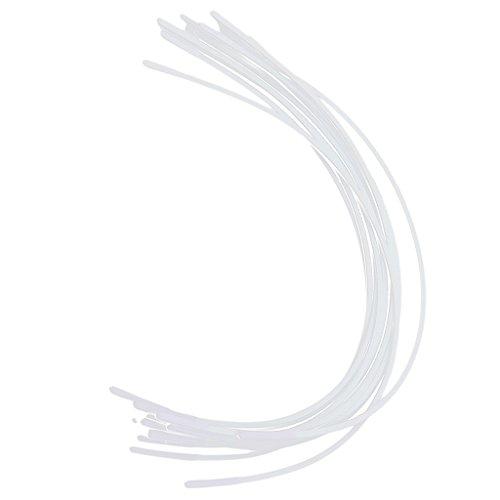 Sharplace BH Bügel Ersatzbügel verschiedene Größen flexibel in vielen Farben - Weiß, B