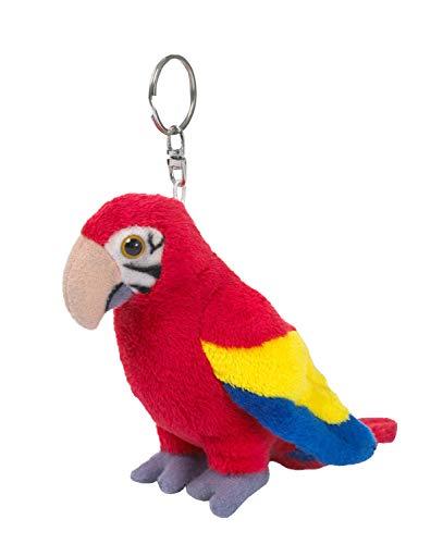 WWF WWF00281 15205012 Plüsch Papagei als Schlüsselanhänger, ca. 10 cm groß, realistisch gestaltetes Plüschtier mit Schlüsselring