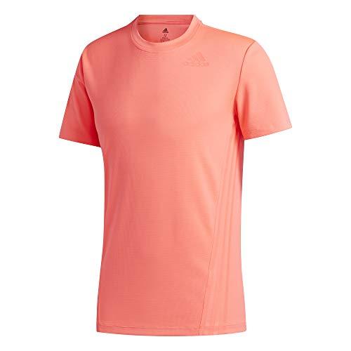 adidas Męski T-shirt Aeroredy 3-paski męski różowy Sigpnk. XXL
