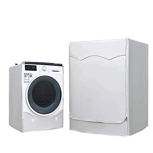 Lavatrice Copertura, Argento Esterni Impermeabile Anti-ultravioletti per di Carica Frontale lavatrici e Asciugatrice Copertura-60 x 60 x 85CM Argento