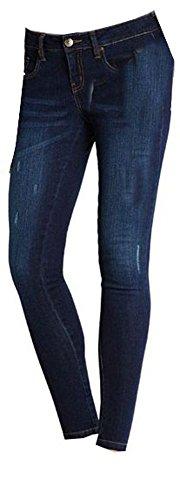 Esmara Damen Stretchhose Jeanshose Knöchelhose Größen wählbar (40, Dunkelblau)