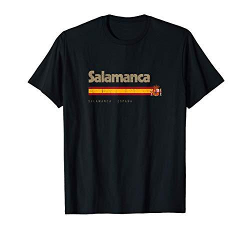 Salamanca Ciudad Española Vintage Bandera España Camiseta