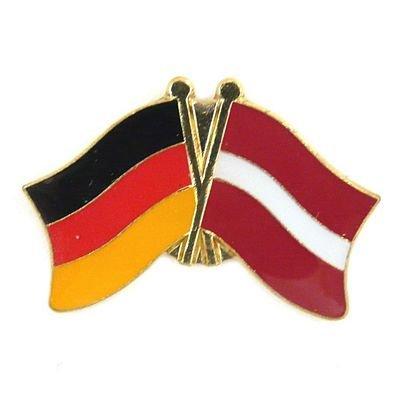Freundschaftspin Lettland Pin Fahne Flagge FLAGGENMAE®