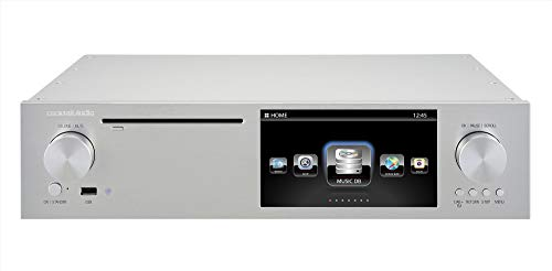 Affordable Cocktail Audio X50D Roon Ready TIDAL Streamer/CD/DAC/FM Tuner (Silver)