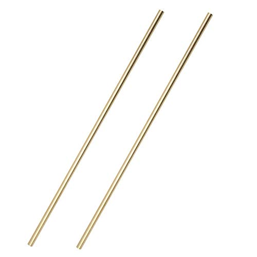 Eowpower 2Pcs 1/8' x 6 inch Copper Round Rod Brass Knife Pin Stock, Metal Craft Working Hobbies