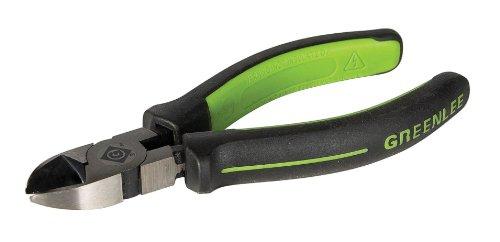 "Greenlee 0251-06M Diagonal Cutting Pliers, Mini Molded Grip, 6"""