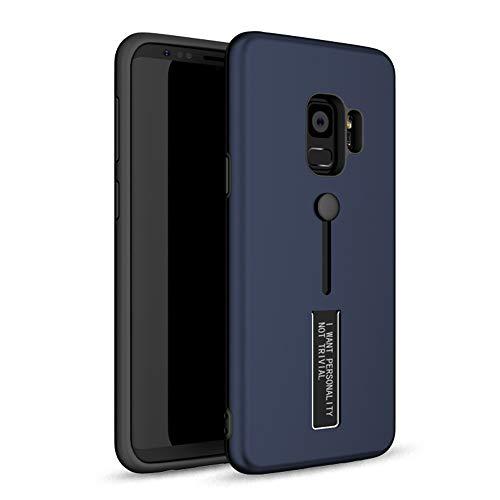 Case compatibel met Samsung Galaxy S9 Plus hoes ultradunne harde schaal stafing telefoonhoes slipvast silicone beschermhoes bont waterdicht cover met kickstand duurzaam case