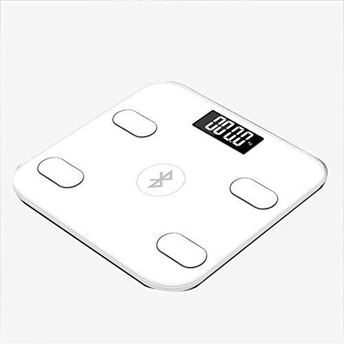 Osmlvjj Mess Bluetooth Waage, digital Personenwaage, Höchste Präzision for BMI, Körperfett, Muskel-, etc, Smart-APP for Fitness-Tracking, USB