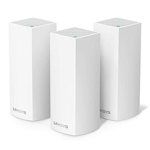 Linksys Système Wi-Fi Mesh Multiroom Velop triple bande WHW0303 (Routeur Wi-Fi AC6600 / Extension Wi-Fi, Contrôle Parental, pack de 3, Portée de Signal jusqu'à 525 m2, Blanc)