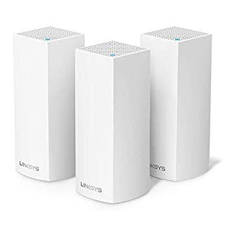 Linksys WHW0303 - Sistema Velop WiFi mesh tribanda para todo el hogar (router/extensor WiFi AC6600, sin interrupciones, controles parentales, hasta 525 m², paquete de 3 nodos, color blanco) (B01N2VY328) | Amazon price tracker / tracking, Amazon price history charts, Amazon price watches, Amazon price drop alerts