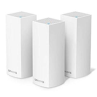 Linksys Système Wi-Fi Mesh Multiroom Velop triple bande WHW0303 (Wi-Fi AC6600, contrôle parental, pack de 3, portée de signal jusqu'à 525 m2, blanc) (B01N2VY328) | Amazon price tracker / tracking, Amazon price history charts, Amazon price watches, Amazon price drop alerts