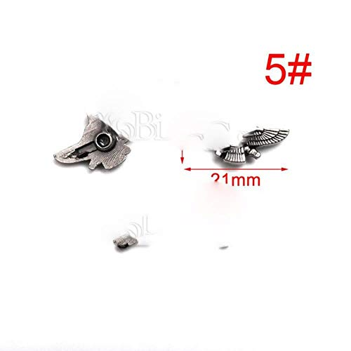5 sets tinnen punk studs klinknagel spikes rock kledingstuk schoenentas huisdieren kraag diy lederen ambachtelijke onderdelen schild chinese knoop kruis, 5
