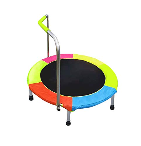 ALPIKA Junior Trampoline with Handle, Indoor Outdoor Tramoline Fitness Trampoline, Foldable Multicolor Trampoline Rebounder with Sturdy Frame and Safety Padded Cover for Children Toys