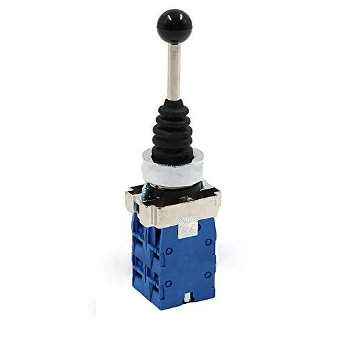 Interruptor de palanca de mando, palanca de mando de retorno por resorte Interruptor de palanca de mando con orificio de montaje de 22 mm de diámetro para automatización y campo de seguridad (4 posic