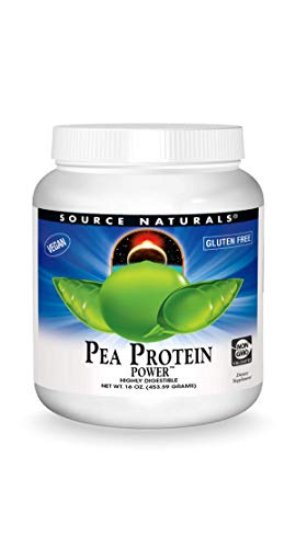 Source Naturals Pea Protein Power Plant-Based Protein Powder - Easy To Digest, Bioavailable, Non-Dairy, Vegan, Non-GMO, Gluten Free, Sugar Free, Unflavored - 16oz