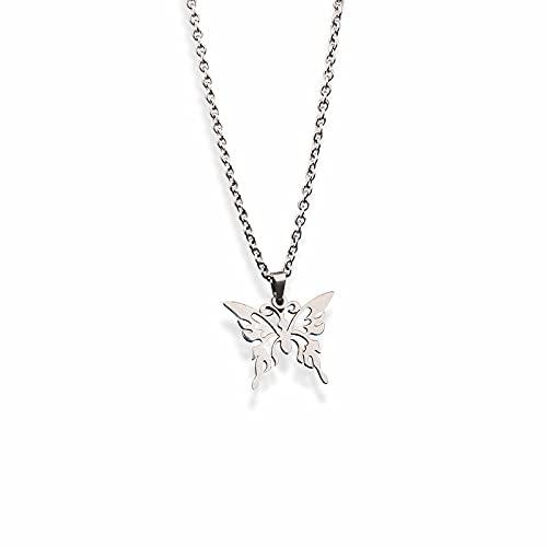 Collar De Mariposa Tendencia Mujer Verano Titanio Acero Hada Sencillo Y Fresco Estudiante Moda Diseño Popular Sentido