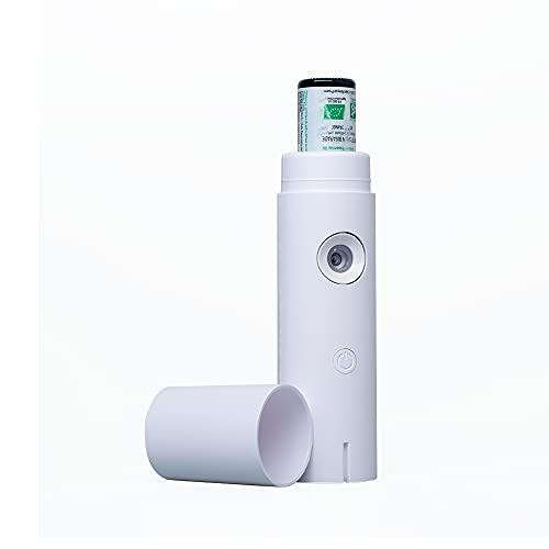 AROFLORA - Lilia - Diffuseur d'Huiles Essentielles par Ultra-Nébulisation - Diffuseur Nomade - Batterie Rechargeable - Diffusion Directe Depuis le Flacon - Superficie de Diffusion Jusqu'à 60 m²