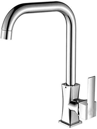Fregadero giratorio de una manija de un solo orificio, fregadero de válvula fría y caliente, grifo de cocina de cobre Beike