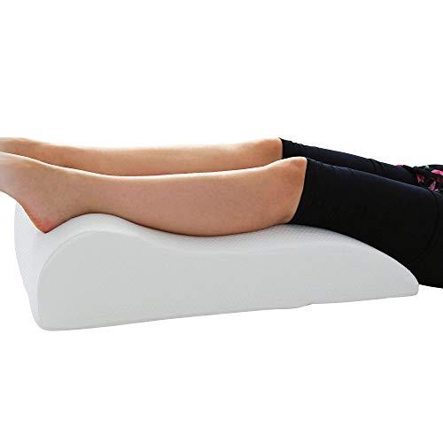 Badenia Medical Venenkissen, Venenkeil, Entspannungskissen - perfekte Beinhochlagerung - aus weichem Baumwoll-Doppeltuch - abnehmbarer, waschbarer Bezug - 40x68x16,5 cm - weiß