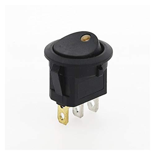 JSJJATQ Interruptores 4pcs 3 Pines On-Off SPOR Rocker Switch de Rocker 12V LED Interruptor de Rocker LED LED LED LED Iluminado Dashboard (Color : Yellow)