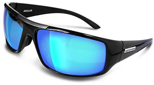 Newport Polarized Angler Black Sunglasses w/Blue Revo Lens