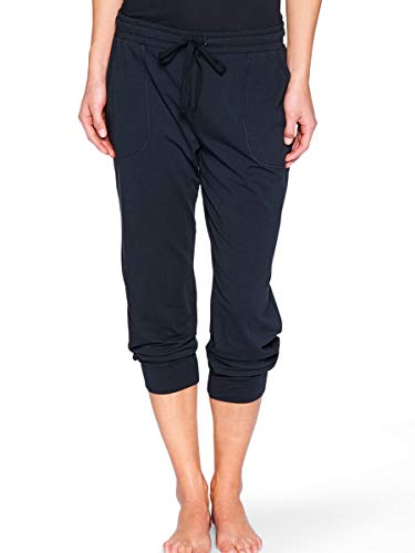 Marc O'Polo Body & Beach Damen 3/4 Schlafanzughose PANTS, Gr. 44 (Herstellergröße: XXL), Schwarz (blauschwarz 001)
