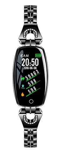 Hangang Smart Bracelet Watch Fitness Tracker Mujer Excelente frecuencia cardíaca Monitoreo de la presión Arterial Pulsera Deportiva,Reloj Deportivo para Dama Lady Pulsera Inteligente(Negro)