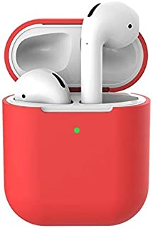 AOFFLY Soft Silicone Protective Cases For Wireless Apple Airpods 2 Shockproof Ultra Thin Protector Case No Earphone many colors to choose
