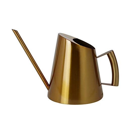 Nikgic. Edelstahl Giesskanne kleine Gold Gießkannen 900ml Watering Can mit Langer Düse Zum Gartenarbeit Pflanzen Innen Außenbereich Blumen Gebüsch Zuhause