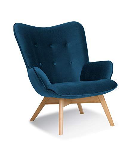 Fotel w stylu skandynawskim Cherub (granatowy)